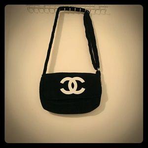 Chanel Black Crossbody Cosmetic Bag